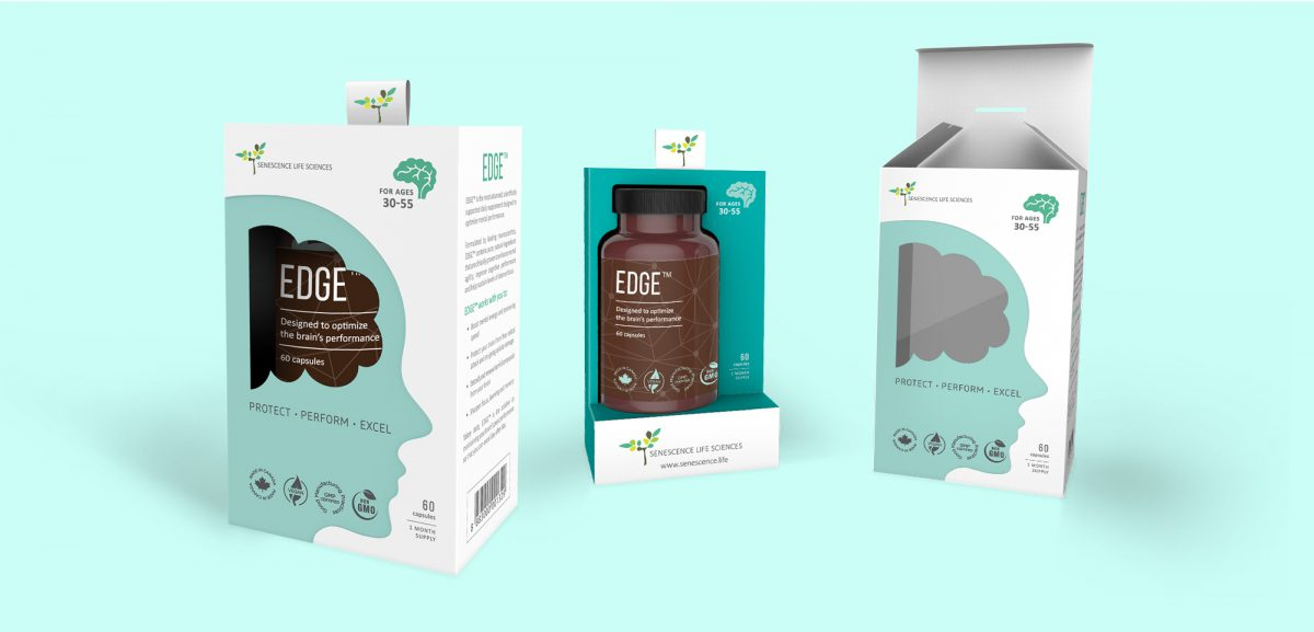 senescence product packaging design