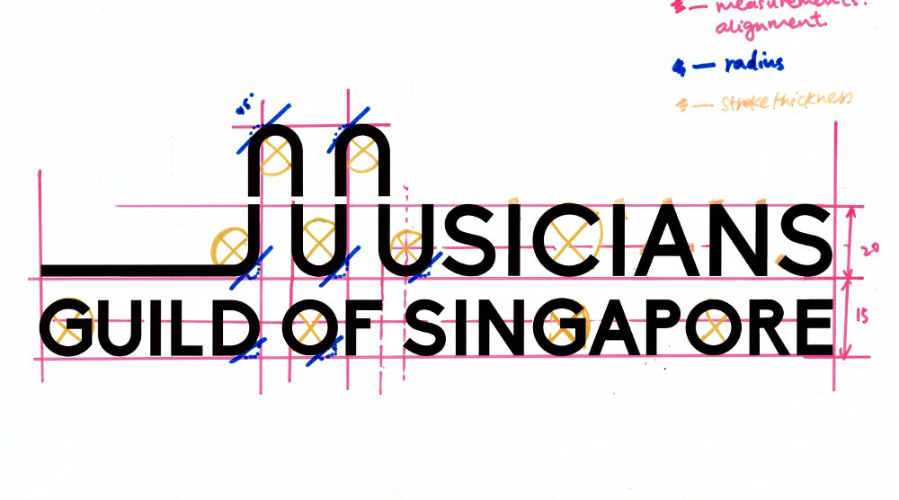 musicians guild of singapore logo design sketch